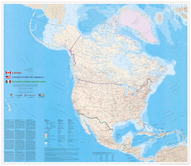 USGS Smallscale Dataset North American Atlas Political - Us map shapefile