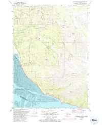 Topo map Anchorage A-7 NE Alaska