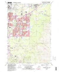Topo map Anchorage A-8 NE Alaska