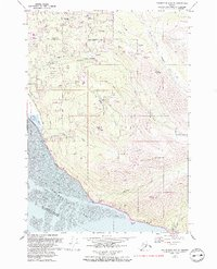 Topo map Anchorage A-8 SE Alaska