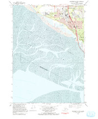 Topo map Anchorage A-8 SW Alaska