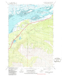 Topo map Anchorage B-7 NE Alaska