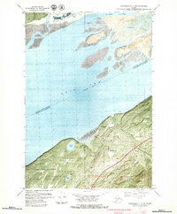 Topo map Anchorage B-7 NW Alaska