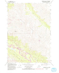 Topo map Anchorage B-7 SE Alaska