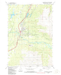 Topo map Anchorage B-7 SW Alaska