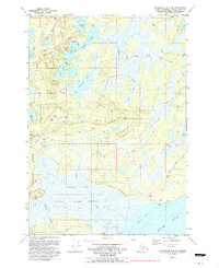 Topo map Anchorage B-8 NW Alaska