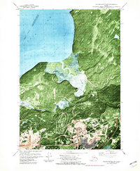 Topo map Anchorage B-8 SE Alaska