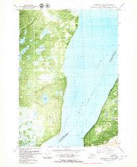 Topo map Anchorage B-8 SW Alaska