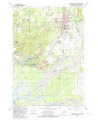 Topo map Anchorage C-6 SW Alaska