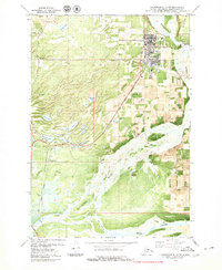 Topo map Anchorage C-6 SW Alaska