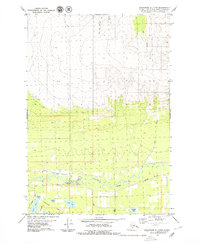 Topo map Anchorage C-7 NW Alaska