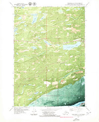 Topo map Anchorage C-7 SW Alaska