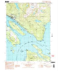 Topo map Ketchikan B-5 SW Alaska