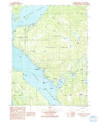 Topo map Ketchikan B-6 NE Alaska