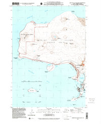 Topo map Saint Paul Island West Alaska