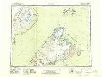 Topo map Afognak Alaska