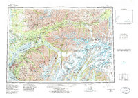 Topo map Anchorage Alaska