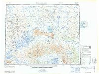 Topo map Bendeleben Alaska