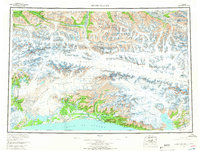 Topo map Bering Glacier Alaska