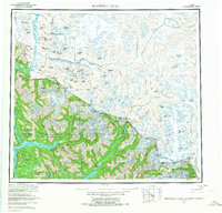 Topo map Bradfield Canal Alaska