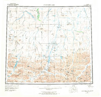 Topo map Chandler Lake Alaska