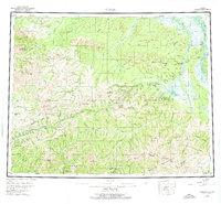 Topo map Circle Alaska