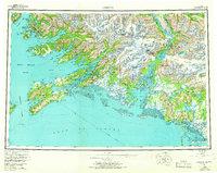 Topo map Cordova Alaska