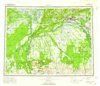 Topo map Fairbanks Alaska