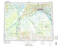 Topo map Fairbanks Alaska