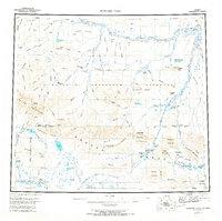 Topo map Howard Pass Alaska