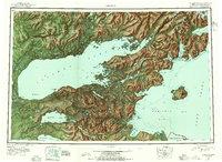 Topo map Iliamna Alaska
