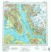 Topo map Juneau Alaska