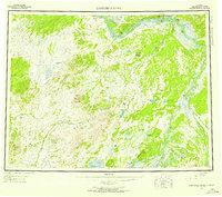 Topo map Kantishna River Alaska