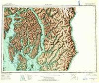 Topo map Ketchikan Alaska