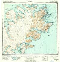 Topo map Kodiak Alaska