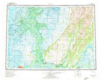 Topo map Kwiguk Alaska