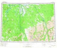 Topo map McGrath Alaska