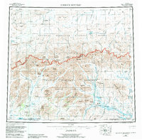 Topo map Misheguk Mountain Alaska
