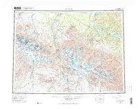 Topo map Mount Hayes Alaska