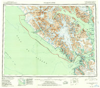 Topo map Mt Fairweather Alaska