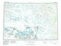 Topo map Mt Saint Elias Alaska