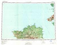 Topo map Nunivak Island Alaska