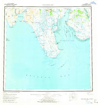Topo map Nushagak Bay Alaska