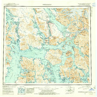Topo map Petersburg Alaska