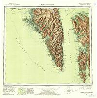 Topo map Port Alexander Alaska
