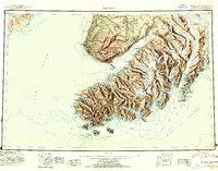 Topo map Seldovia Alaska