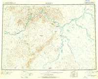 Topo map Sleetmute Alaska