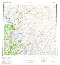 Topo map Taku River Alaska