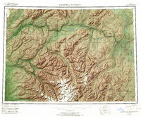 Topo map Talkeetna Mountains Alaska