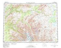 Topo map Talkeetna Mountains Alaska